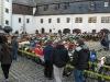 Parc Ferme im Schlosshof von Schloss Wildeck